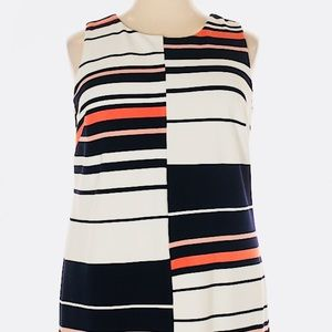 A Line Horizontal Stripe Dress